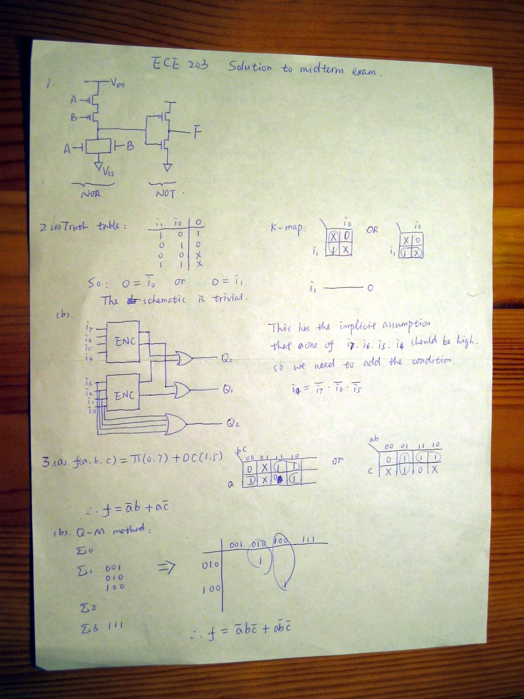 eecs 203 w1 exam solutions Eecs 556, 2003 exam #2 solutions 1 take-home exam #2 solutions  in to do this problem, we must assume that w 1 and w 2 are jointly wss we can also quickly see .
